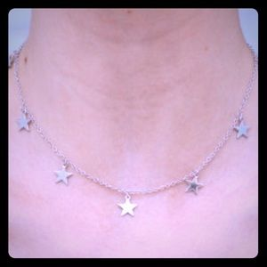 Brandy Sliver Star Necklace New Not Worn Perfect